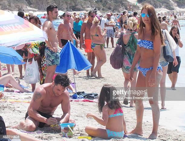 David Bustamante Paula Echevarria and their daughter Daniela Bustamante are seen on July 15 2014 in Ibiza Spain