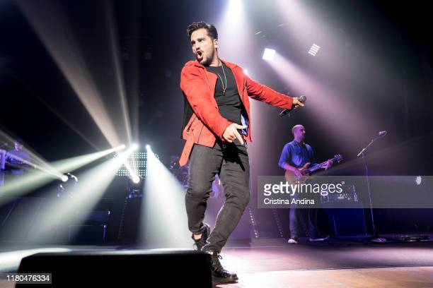 David Bustamante performs on stage in Palacio de la Ópera on October 11 2019 in A Coruna Spain