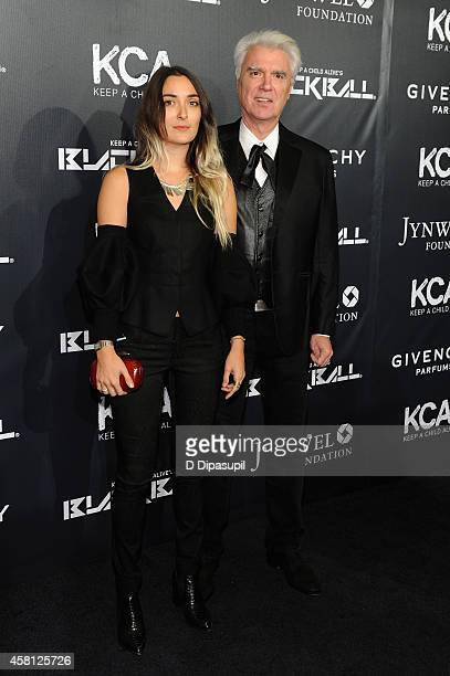 David Byrne and Malu Abeni Valentine Byrne attend Keep A Child Alive's 11th annual Black Ball at Hammerstein Ballroom on October 30 2014 in New York...