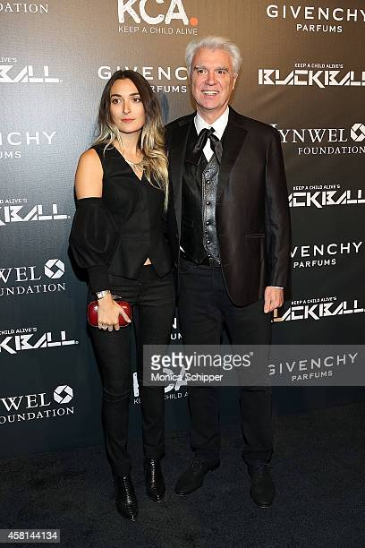 David Byrne and Malu Abeni Valentine Byrne attend the 9th annual Keep A Child Alive Black Ball at Hammerstein Ballroom on October 30 2014 in New York...