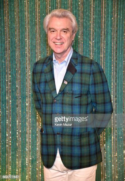 David Byrne attends the 2017 Brooklyn Artists Ball at Brooklyn Museum on April 3 2017 in New York City