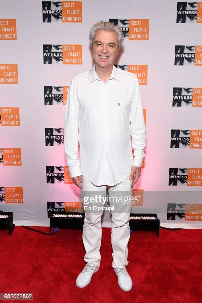 David Byrne attends the WITNESS 25th Anniversary Gala at The Edison Ballroom on May 11 2017 in New York City
