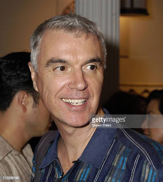 David Byrne during Temperley of London Launches Apparel Line in New York City at Temperley Showroom in New York City New York United States