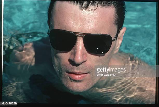 David Byrne in a Pool