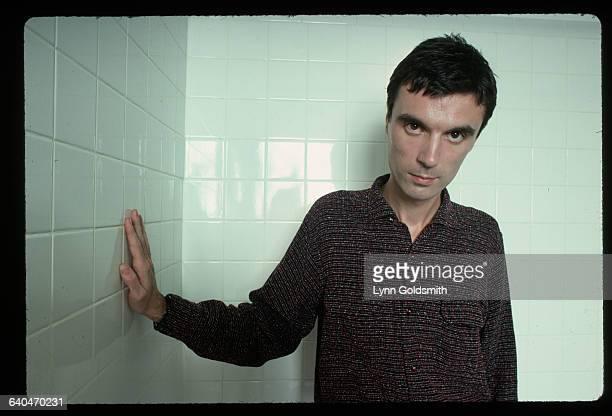 David Byrne in a Tiled Room