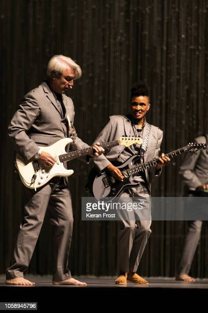 David Byrne performs at the 3Arena Dublin on October 24 2018 in Dublin Ireland