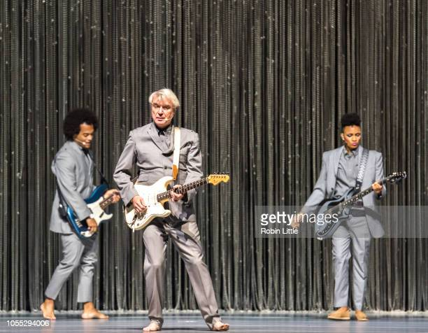 David Byrne performs at The O2 Arena on October 29 2018 in London England