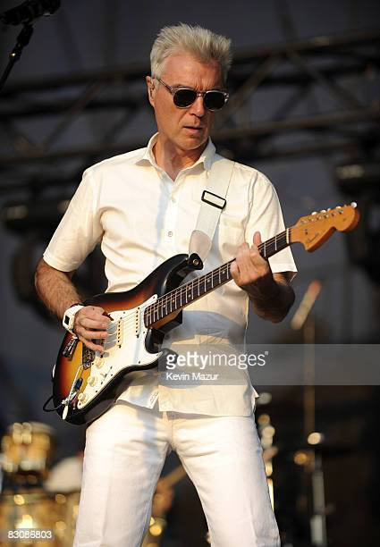 David Byrne performs at Zilker Park during the 2008 Austin City Limits Festival on September 26, 2008 in Austin, Texas.
