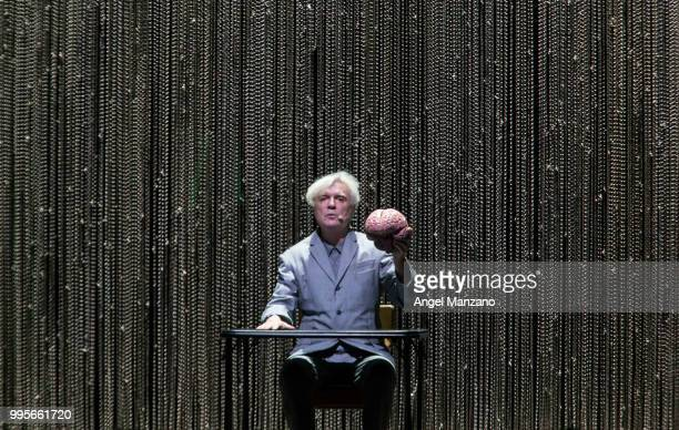 David Byrne performs in concert at Las Noches del Botanico 2018 festival on July 10 2018 in Madrid Spain