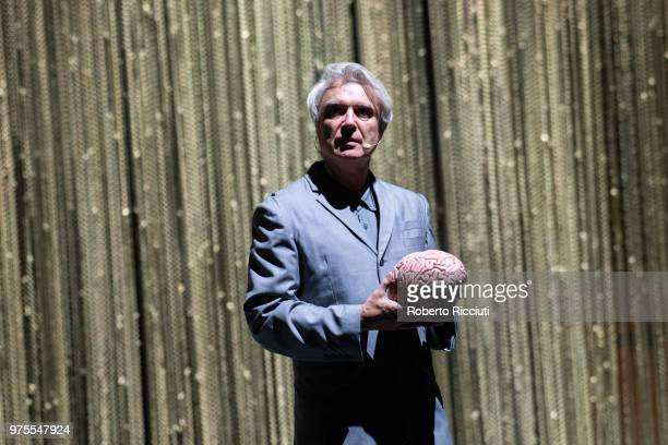 David Byrne performs live on stage at Glasgow Royal Concert Hall on June 15 2018 in Glasgow Scotland