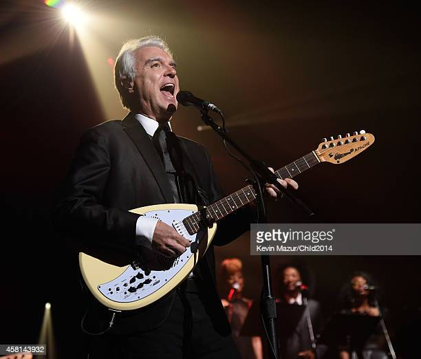 David Byrne performs onstage during Keep A Child Alive's 11th Annual Black Ball at Hammerstein Ballroom on October 30 2014 in New York City