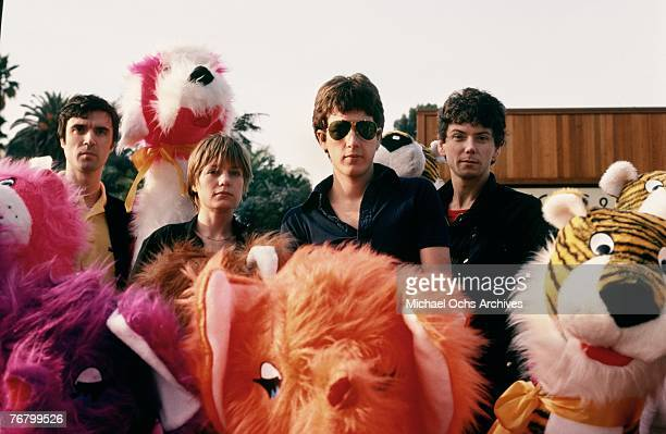 David Byrne Tina Weymouth Chris Frantz and Jerry Harrison of the Talking Heads pose for a protriat in December 1977 in Hollywood California