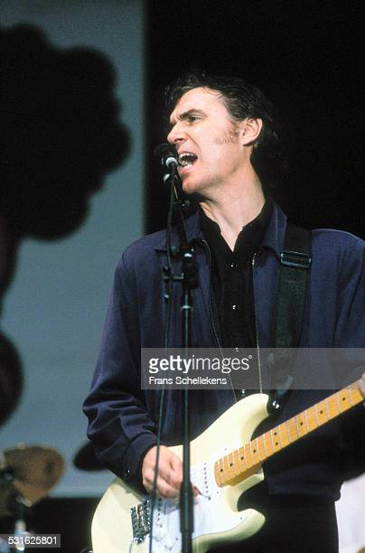 David Byrne, vocal, performs at Pinkpop on June 8th 1992 in Amsterdam, Netherlands.