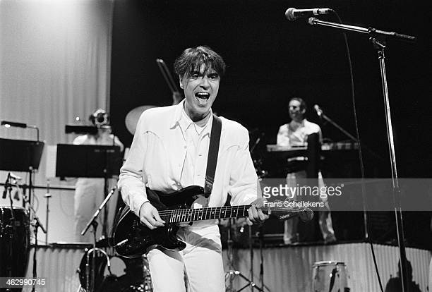 David Byrne vocal performs at Vredenburg on 6th December 1989 in Utrecht the Netherlands