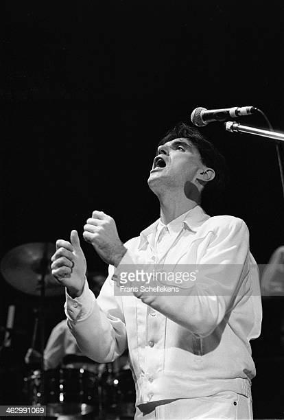 David Byrne, vocal, performs at Vredenburg on 6th December 1989 in Utrecht, the Netherlands.