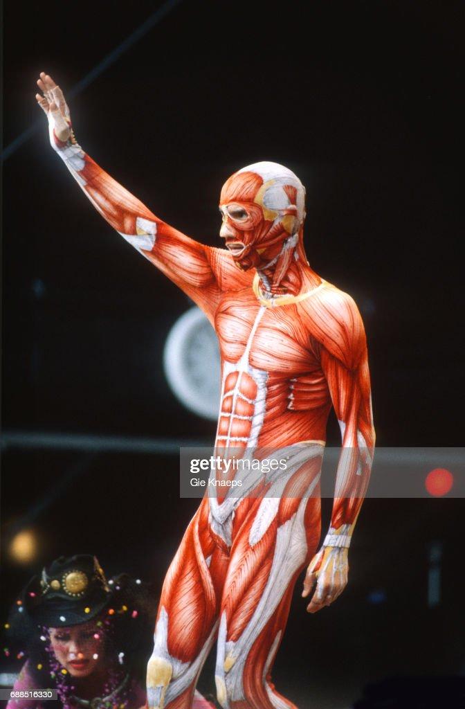 David Byrne Wearing Muscle Skinsuit Torhoutwerchter Festival