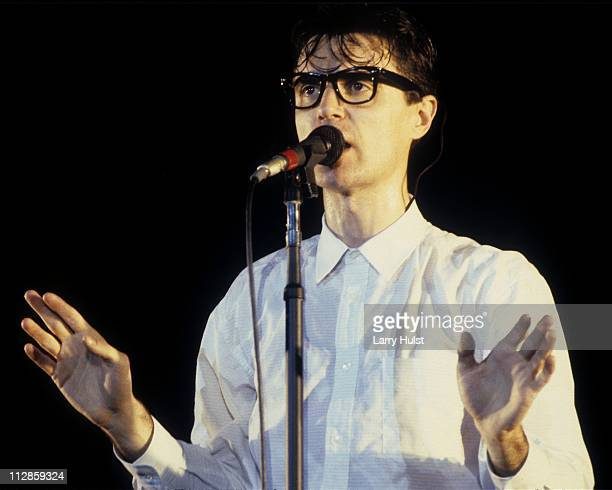 David Byrne with the Talking Heads performs at the Greek Theater in Bekeley California on September 2 1983