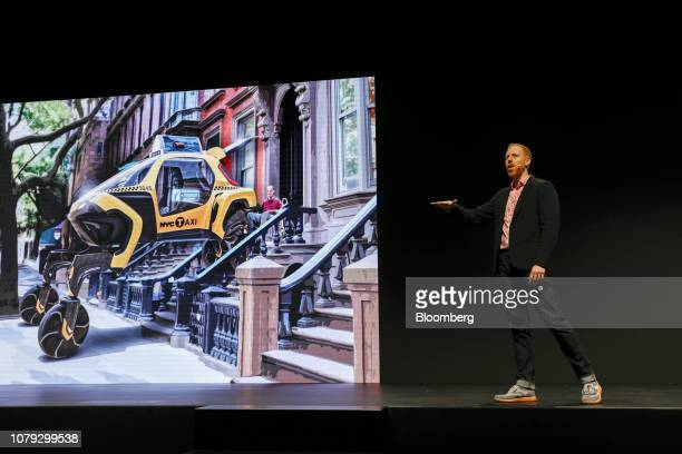 David Byron industrial design manager of SundbergFerar Inc speaks during the Hyundai Motor Co event at the 2019 Consumer Electronics Show in Las...