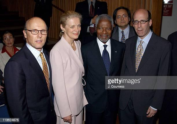 David C. McCourt, Chairman and CEO, RCN Corporation, Nane Annan, United Nations Secretary-General Kofi Annan and Matthew C. Blank, Chairman and CEO,...