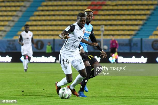 David Cafimipon Gomis of Gazelec during the Ligue 2 match between Tours and Gazelec Ajaccio at on November 24 2017 in Tours France
