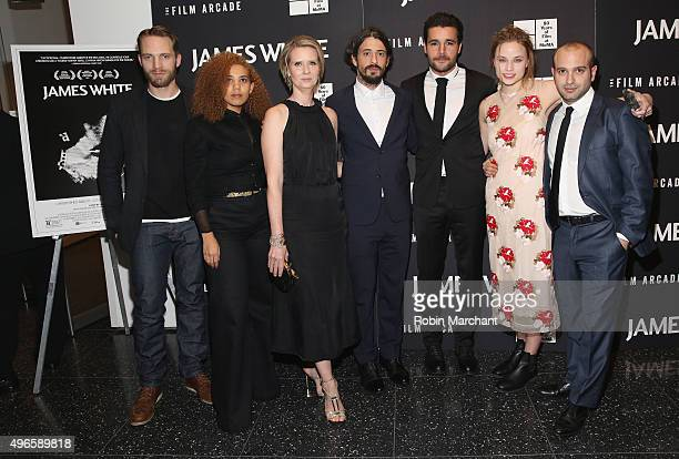 David Call Melody Roscher Cynthia Nixon Josh Mond Christopher Abbott and Makenzie Leigh attend Opening Night Of MOMA's Eighth Annual Contenders...