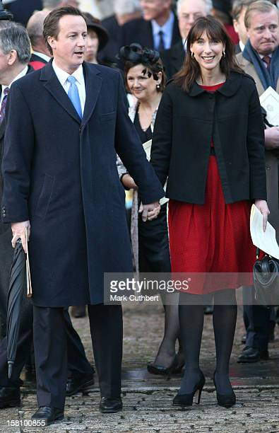 David Cameron And His Wife Samantha Attend A Service Celebrating Queen Elizabeth Ii And Prince Philip, The Duke Of Edinburgh'S 60Th Diamond Wedding...