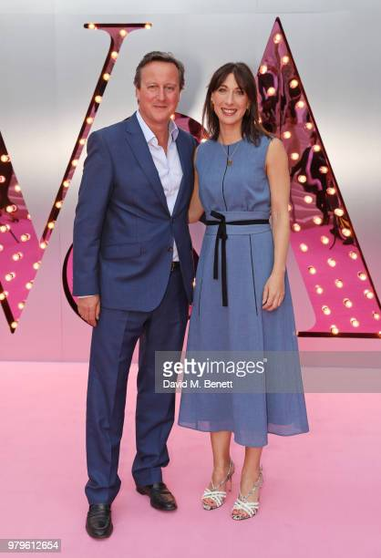 David Cameron and Samantha Cameron attend the Summer Party at the VA in partnership with Harrods at the Victoria and Albert Museum on June 20 2018 in...