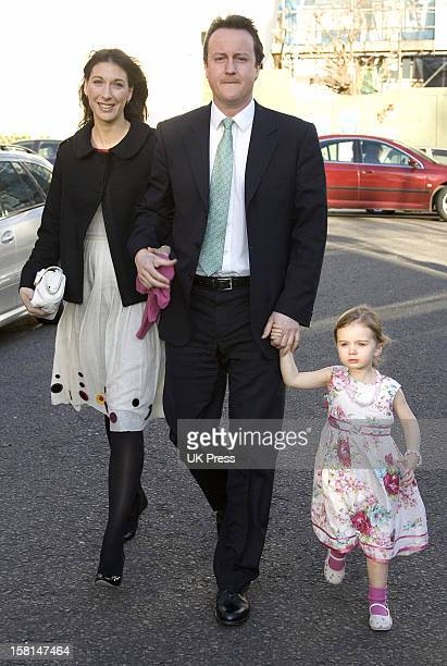 David Cameron Attends The Society Wedding Of Alan Parker Jane Hardman At Christ Church In Kensington London9/3/07