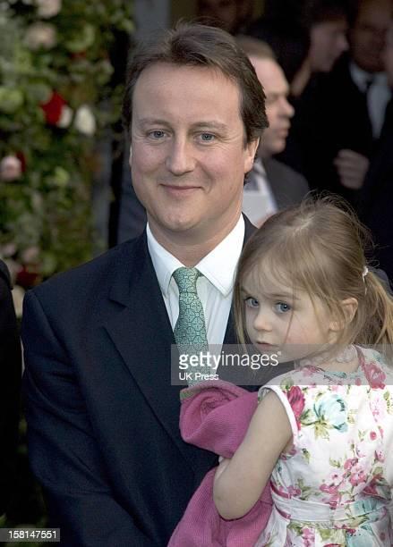 David Cameron Attends The Society Wedding Of Alan Parker Jane Hardman At Christ Church In Kensington London9/3/07