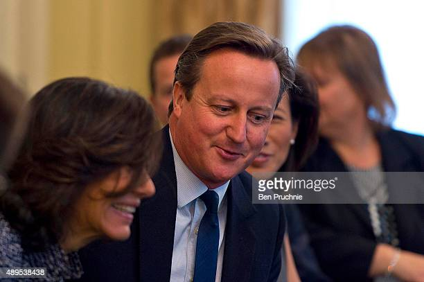 David Cameron hosts a Business Advisory Board meeting at Downing Street on September 22 2015 in London England This is the first meeting the British...