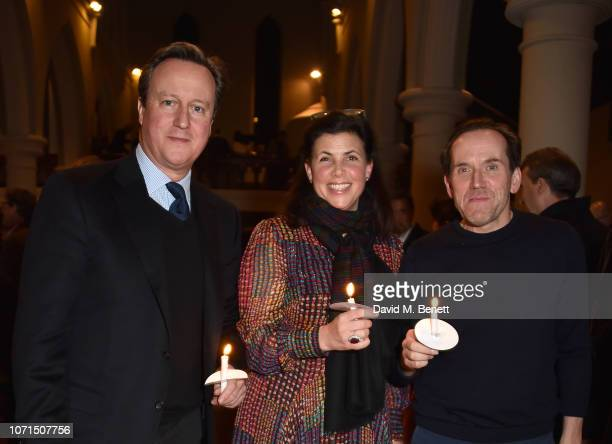 David Cameron Kirstie Allsopp and Ben Miller attend an evening of Christmas Carols in aid of Bloodwise on December 10 2018 in London England