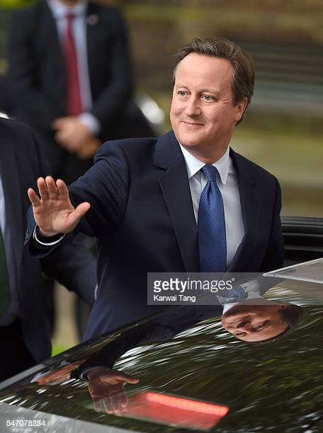 David Cameron leaves 10 Downing Street on July 13 2016 in London England David Cameron leaves Downing Street today having been Prime Minister of the...