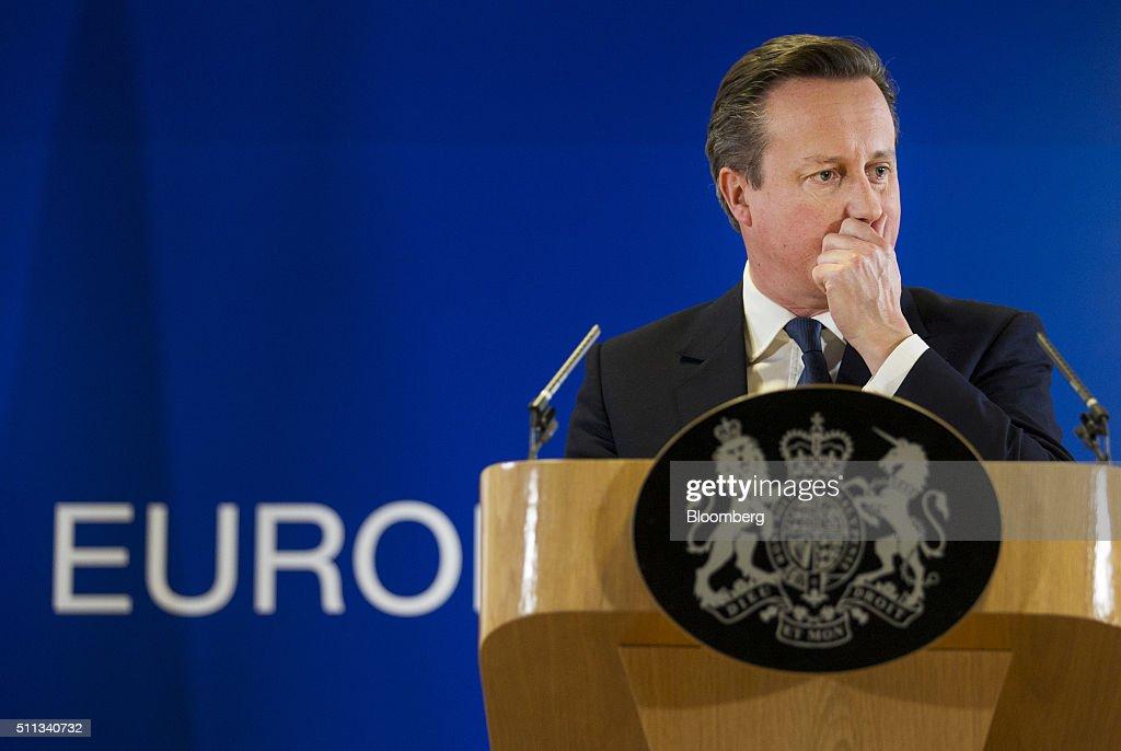 European Leaders Summit Continues Following Late Night Talks On UK Membership Terms : News Photo