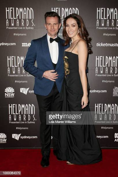 David Campbell and Lisa Campbell arrive at the 18th Annual Helpmann Awards at Capitol Theatre on July 16 2018 in Sydney Australia