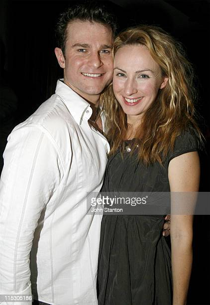 David Campbell and Lisa McCune during 'Urinetown' Sydney Opening Night at Sydney Theatre Company Walsh Bay in Sydney NSW Australia