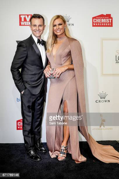 David Campbell and Sonia Kruger arrives at the 59th Annual Logie Awards at Crown Palladium on April 23 2017 in Melbourne Australia