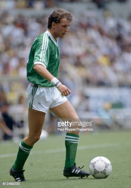 David Campbell in action for Northern Ireland during the FIFA World Cup match between Northern Ireland and Brazil at the Estadio Jalisco in...