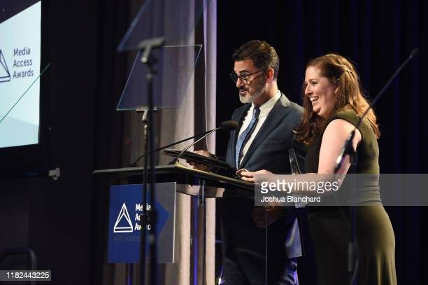 David Caparelliotis and Lauren Port attend the 40th Annual Media Access Awards In Partnership With Easterseals at The Beverly Hilton Hotel on...