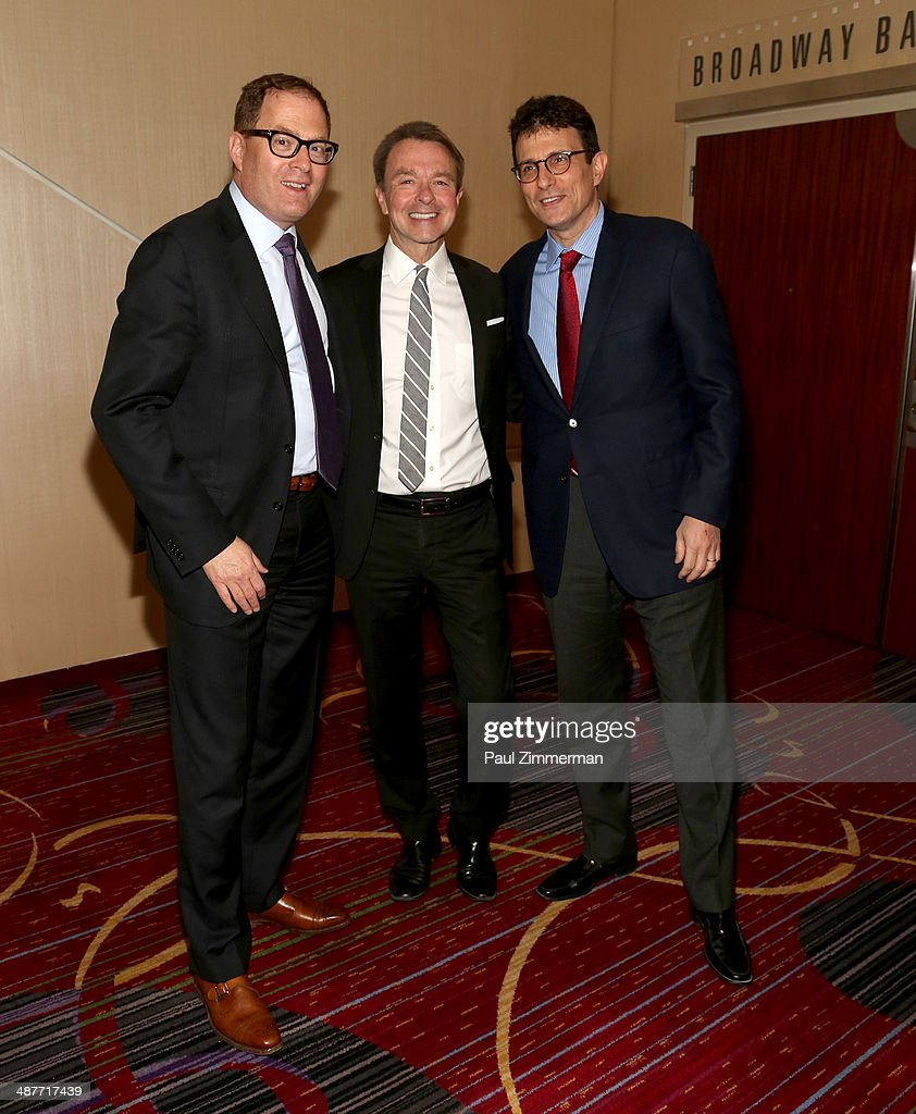 David Carey, Michael Clinton, and David Remnick attend the 2014 National Magazine Awards at The New York Marriott Marquis on May 1, 2014 in New York City.