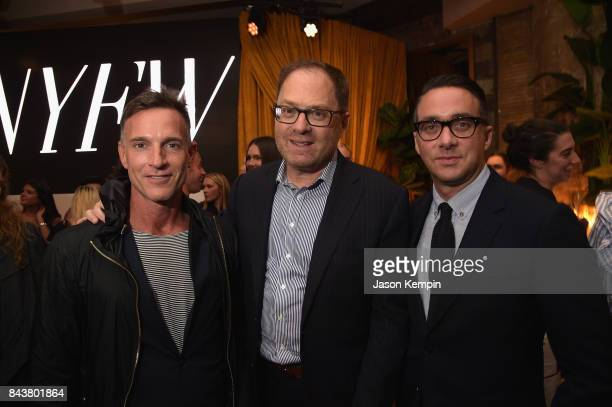 David Carey President E Entertainment Adam Stotsky and guest attend the NYFW Kickoff Party A Celebration Of Personal Style hosted by E ELLE IMG and...