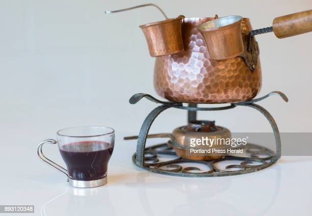David Carlson owner of Marshall Wharf Brewing makes his family recipe for glogg a traditional Swedish drink served during the winter especially...