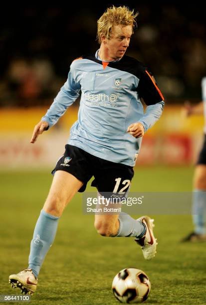 David Carney of Sydney FC in action during the FIFA Club World Championship Toyota Cup 2005 match between Al Ahly and Sydney FC at The National...