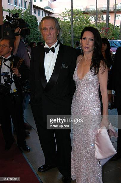 David Carradine and Annie Bierman during 14th Annual Night of 100 Stars Oscar Gala at Beverly Hills Hotel in Beverly Hills California United States
