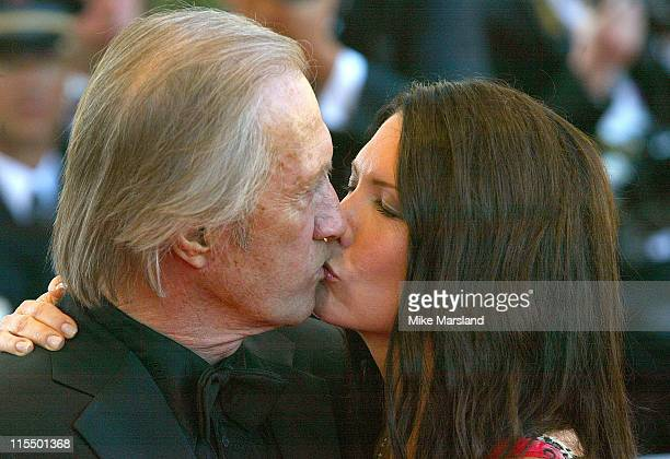 David Carradine and Annie Bierman during 2004 Cannes Film Festival 'The Life and Death of Peter Sellers' Premiere at Palais Du Festival in Cannes...