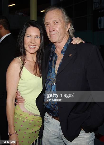 David Carradine and Annie Bierman during 'Hero' Los Angeles Premiere Arrivals at The ArcLight in Hollywood California United States