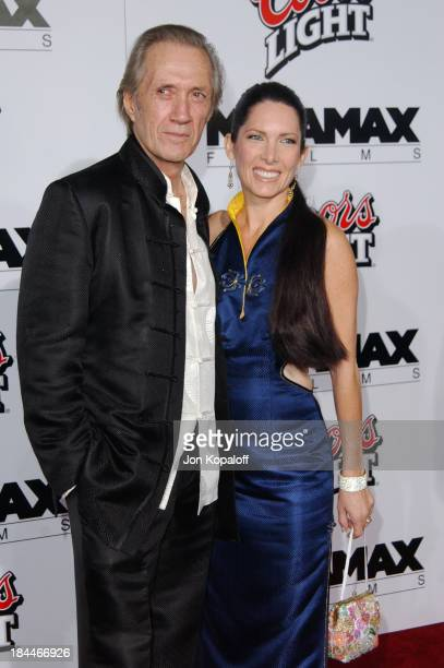 David Carradine and Annie Bierman during 'Kill Bill Vol1' Hollywood Premiere at Grauman's Chinese Theater in Hollywood California United States