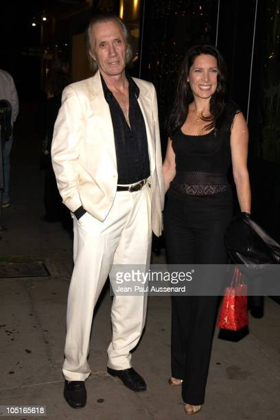 David Carradine and Annie Bierman during Oasis Restaurant Grand Opening at Oasis in Los Angeles California United States
