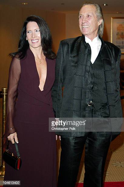 David Carradine and Annie Bierman during To Protect and to Serve at Century Plaza Hotel in Century City CA United States