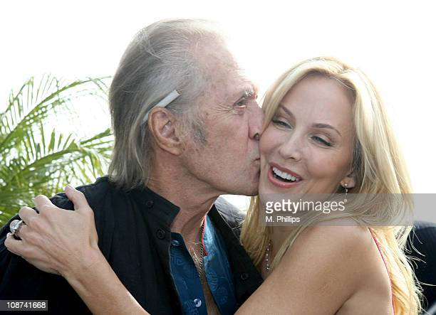 David Carradine and Eloise DeJoria during Snowy Christmas Eve in Malibu December 24 2005 at Private Residence in Malibu CA United States