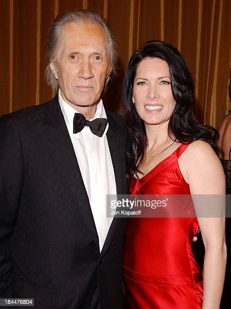 David Carradine and wife Annie Bierman during 57th Annual Directors Guild Awards Arrivals at Beverly Hilton Hotel in Beverly Hills California United...